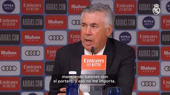 Imagen de vista previa para Carlo Ancelotti: 'Seguimos arriba en la Liga y eso es lo que importa'
