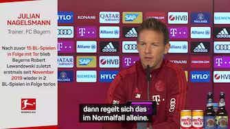 Vorschaubild für Nagelsmann nennt Gründe für Torlos-Lewandowski