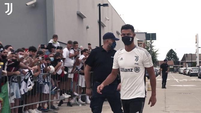 Image d'aperçu pour Cristiano Ronaldo de retour à l'entrainement avec la Juventus