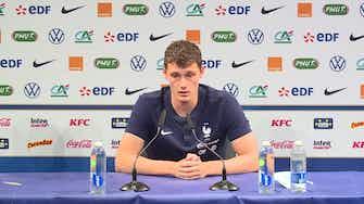 """Image d'aperçu pour Bleus - Pavard sur Giroud : """"Je suis très content pour lui"""""""