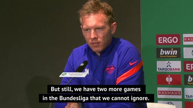 Preview image for Nagelsmann admits cup triumph would be 'a very emotional' ending to Leipzig reign