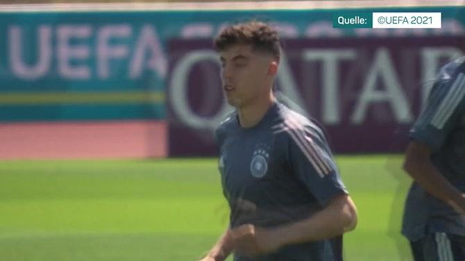 Vorschaubild für Vor Showdown: Deutschland und England im Training