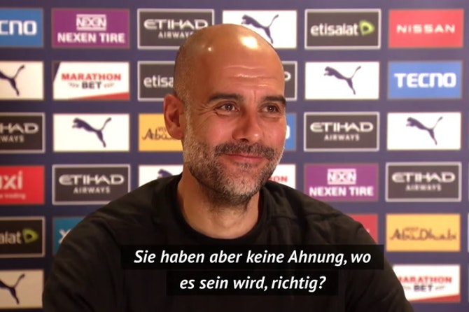 "Guardiola über CL-Finale: ""Problem der UEFA"""