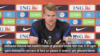 """Anteprima immagine per De Ligt: """"Stiamo crescendo. Sul mio ruolo alla Juve e nell'Olanda..."""""""