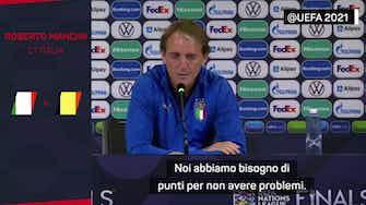 """Anteprima immagine per Belgio senza Lukaku, Mancini: """"Saranno comunque motivati"""""""