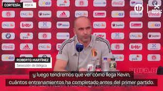 Imagen de vista previa para Roberto Martínez, sobre la dudosa presencia de De Bruyne en la Eurocopa