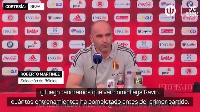 Roberto Martínez, sobre la dudosa presencia de De Bruyne en la Eurocopa