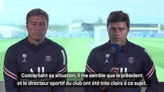 """Image d'aperçu pour PSG - Pochettino sur Mbappé : """"Comme d'habitude, Kylian s'est très bien entraîné"""""""
