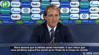 Image d'aperçu pour Roberto Mancini réagit à défaite de l'Italie