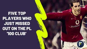 Preview image for Five of the best players to narrowly miss out on the Premier League '100 club'