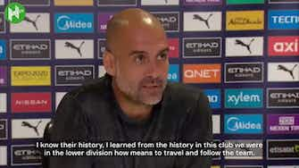 Preview image for Pep Guardiola: 'We are proud of who we are'