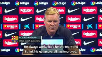 Preview image for Koeman praises two-goal Braithwaite as Barcelona win in first post-Messi game