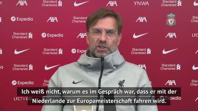 Klopp froh über Van Dijks EM-Entscheidung