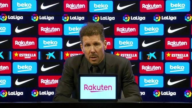 """Simeone, en titulares: """"Prefiero no ver el partido del Madrid. Lo paso mal"""""""