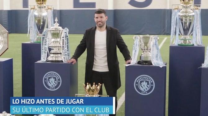 Imagen de vista previa para  El Manchester City homenajea al Kun Agüero antes de su último partido