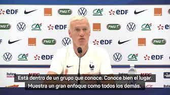 """Imagen de vista previa para Deschamps, sobre Benzema: """"Lo importante es el colectivo"""""""