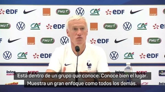 """Deschamps, sobre Benzema: """"Lo importante es el colectivo"""""""