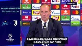 """Anteprima immagine per Allegri: """"Dybala? Torna con l'Inter, con lo Zenit è un match ball"""""""