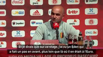 """Image d'aperçu pour Belgique - Martinez : """"Je sens qu'Hazard commence à être de nouveau lui-même"""""""