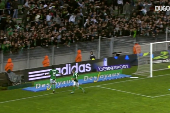 Brandao's goals vs OM with Saint-Etienne