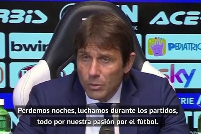 Conte, en contra de la Superliga, pero cree que FIFA y UEFA deben repartir más a los Clubes
