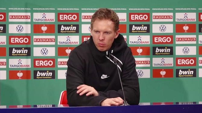 """Vorschaubild für Nagelsmann: """"BVB-Spiel war eine Warnung für uns"""""""
