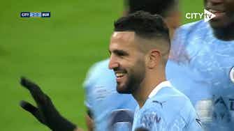 Preview image for Mahrez's hat-trick vs Burnley in 2020-21