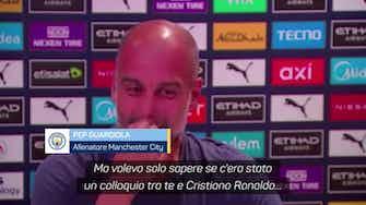 """Anteprima immagine per Mercato, Guardiola: """"Mai parlato con CR7"""""""