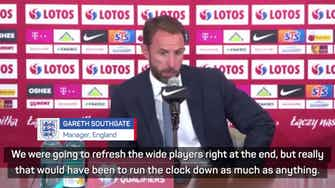 Preview image for Southgate defends lack of England subs in Poland draw