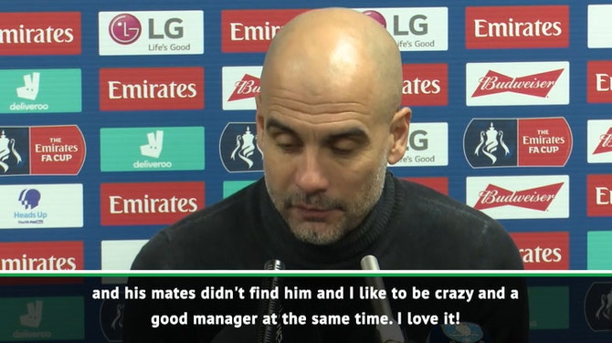 Pep happy to be known as 'crazy' by Agüero after substitution