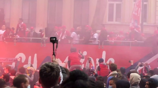 Lille celebrate Ligue 1 title with trophy parade