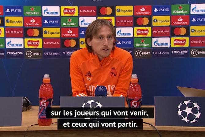 """Quarts - Modric sur la rumeur Mbappé au Real : """"Les grands joueurs sont toujours les bienvenus au Real Madrid"""""""