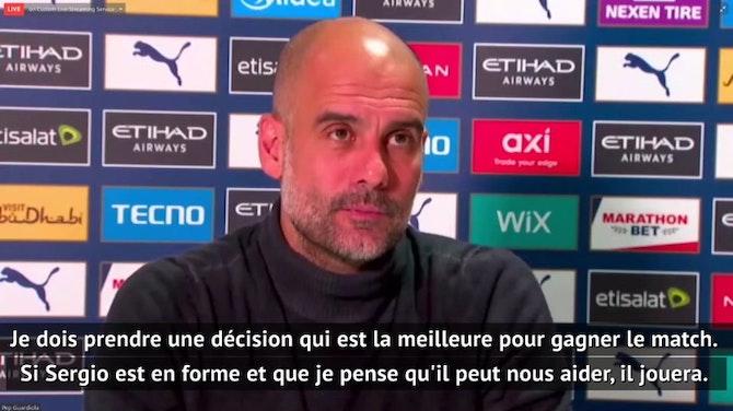 """Image d'aperçu pour Ligue des Champions - Guardiola ne fera """"pas de cadeau à Agüero"""""""