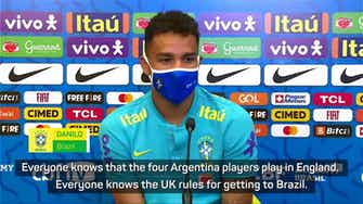 Preview image for 'Justice will be served' - Danilo weighs in on Argentina-COVID confusion