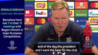 Preview image for Barca coach Koeman insists he has 'perfect' relationship with Laporta