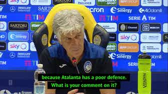 Preview image for Gasperini takes swipe at Raymond Domenech over comments about Atalanta's defence