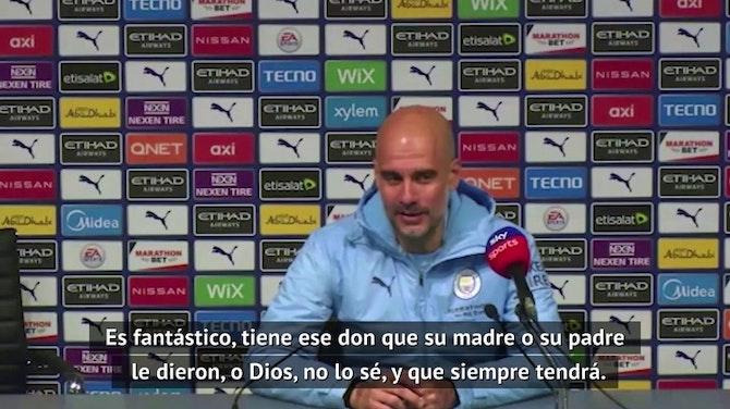 """Guardiola, sobre Agüero: """"¿Para qué añadir algo más?"""""""