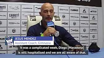 Preview image for Gimnasia assistant coach provides update on Maradona