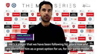 Preview image for Arteta pleased with White's Arsenal debut