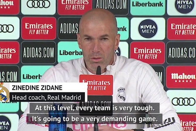Zidane reacts to Champions League draw against Liverpool