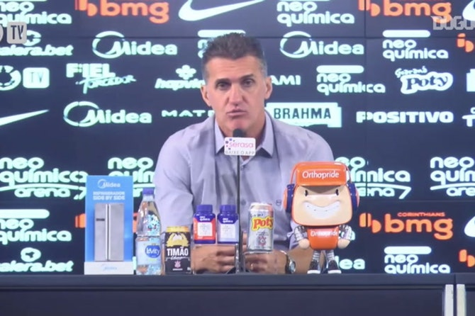 Mancini faz uma avaliação do seu trabalho a frente do Corinthians