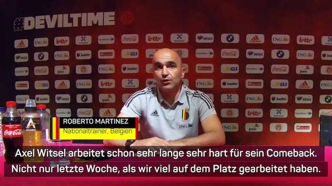 """Vorschaubild für Martinez will Witsel """"keinen Extra-Druck machen"""""""