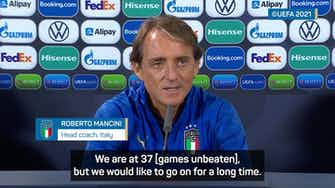 Preview image for Mancini challenges Italy to extend unbeaten streak past Qatar 2022