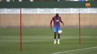 Preview image for Ousmane Dembélé back in individual training at FC Barcelona