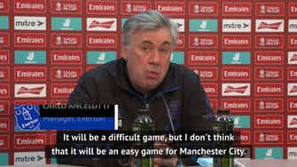 Preview image for FA Cup game will be difficult for Man City - Ancelotti