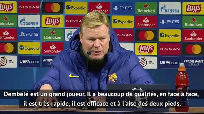 """Groupe G - Koeman : """"Dembélé est un grand joueur"""""""