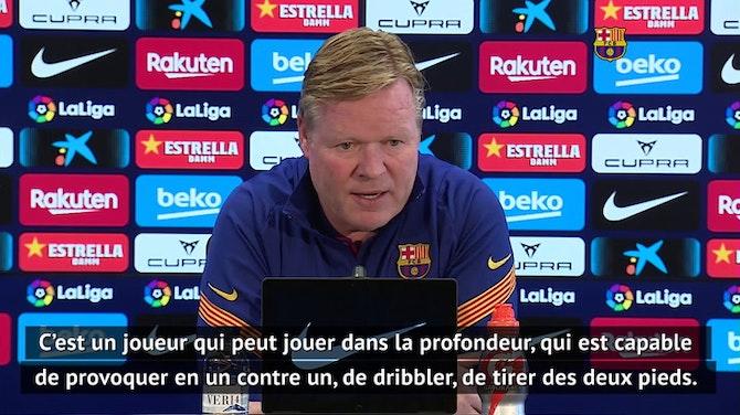 """32e j. - Koeman : """"Dembélé est un joueur très important pour nous"""""""