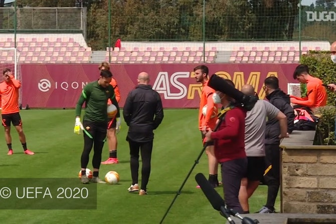 AS Roma prepare to face Manchester United in Europa League