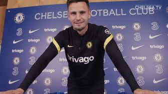 Preview image for Saúl Ñíguez's first training session at Chelsea