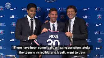 Preview image for Messi admits Neymar reunion influenced PSG move